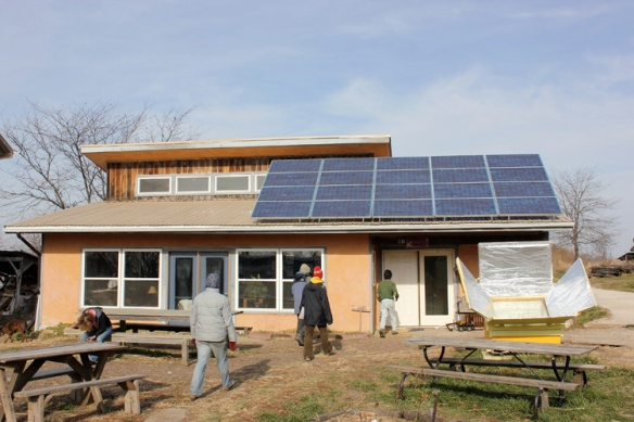 The community building at Dancing Rabbit Ecovillage.
