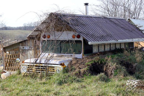 There was a very wide diversity of houses at Dancing Rabbit, including this old school bus!