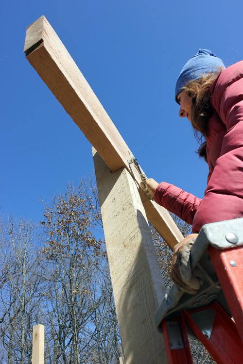 Teri on ladder